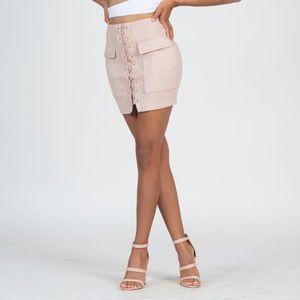Cashmere mini skirt